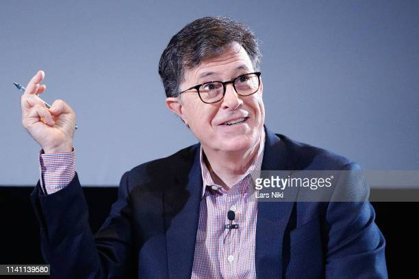 Comedian Stephen Colbert on stage during the 2019 Montclair Film Festival at the Wellmont Theater on May 4, 2019 in Montclair, New Jersey.