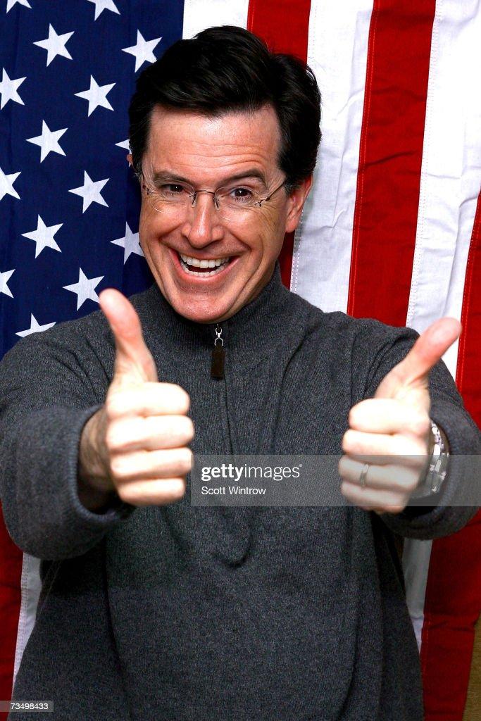 Stephen Colbert Celebrates AmeriCone Dream Ben & Jerry's Ice Cream : News Photo