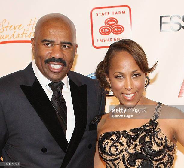 Comedian Steve Harvey and wife Marjorie Harvey attend the 2nd annual Steve Harvey Foundation gala at Cipriani Wall Street on April 4, 2011 in New...
