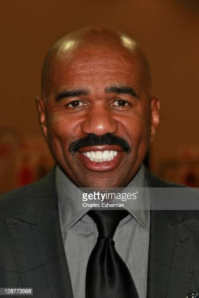 Comedian Steve Harvey attends the 2011 Steve Harvey Mentoring Weekend at the Jacob Javits Center on October 7 2011 in New York City