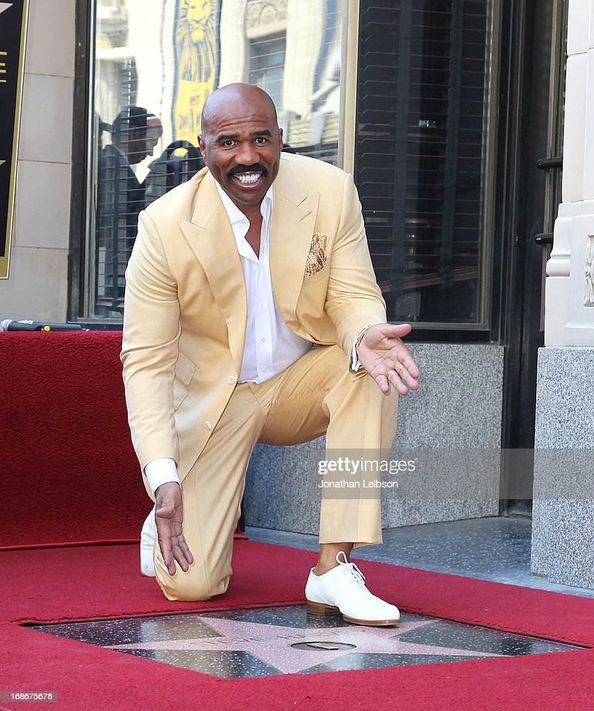 Comedian Steve Harvey Honored With Star On The Hollywood Walk Of Fame on May 13, 2013 in Hollywood, California.