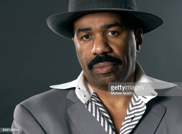 Comedian Steve Harvey is photographed for The Source Magazine on November 3 2005 in New York City