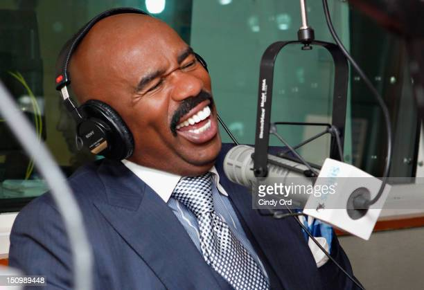 """Comedian Steve Harvey visits """"Getting Late"""" with Mark Seman on Raw Dog Comedy at the SiriusXM Studio on August 29 2012 in New York City"""