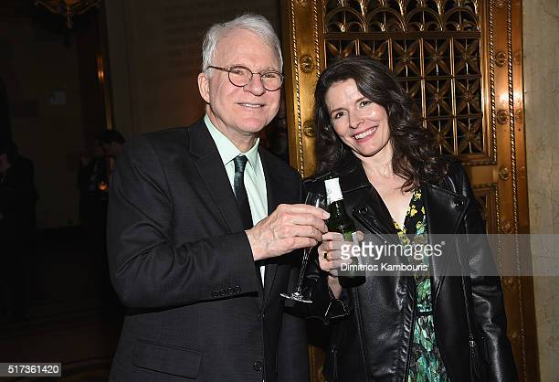 Comedian Steve Martin and Edie Brickel attend the Bright Star Opening Night on Broadway after party on March 24 2016 in New York City