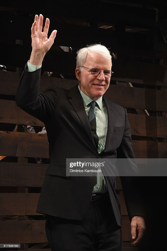 Comedian Steve Martin attends 'Bright Star' Opening Night on Broadway Curtain Call at The Cort Theatre on March 24, 2016 in New York City.