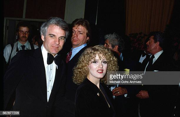 Comedian Steve Martin Bernadette Peters attend an event in Los AngelesCalifornia
