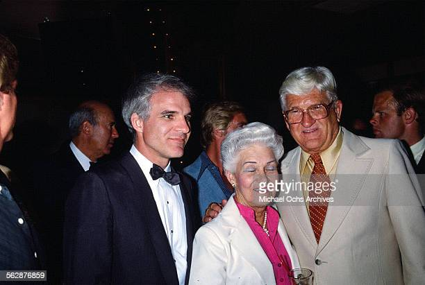 Comedian Steve Martin with his parents attend an event in Los AngelesCalifornia