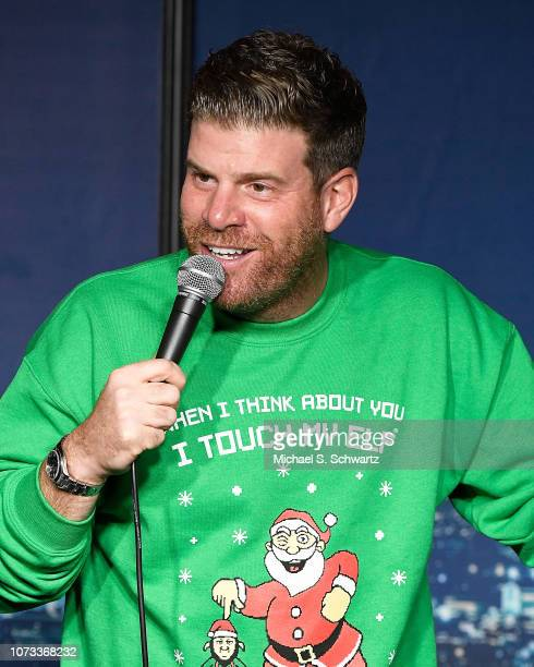 Comedian Steve Rannazzisi performs during his appearance at The Ice House Comedy Club on December 14 2018 in Pasadena California
