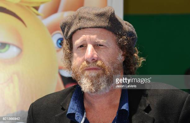 Comedian Steven Wright attends the premiere of 'The Emoji Movie' at Regency Village Theatre on July 23 2017 in Westwood California
