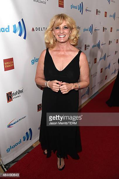 Comedian Suzanne Westenhoefer attends the 25th Annual GLAAD Media Awards at The Beverly Hilton Hotel on April 12 2014 in Los Angeles California