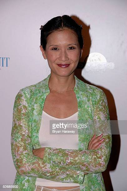 Comedian, Suzanne Whang arrives at the Equestiran AIDS Foundation benefit concert, on April 22, 2005.The Equestrian AIDS Foundation is devoted to...