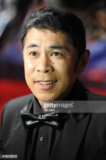 Comedian Takashi Okamura attends the Tokyo Premiere of The Secret Life of Walter Mitty at Roppongi Hills on March 17 2014 in Tokyo Japan
