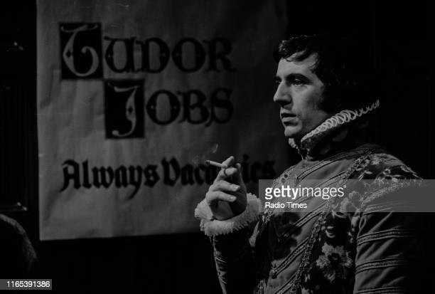 Comedian Terry Jones in the 'Tudor Jobs Agency' sketch from series 3 of the BBC television series 'Monty Python's Flying Circus' February 25th 1972