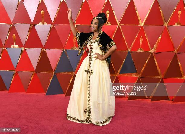 Comedian Tiffany Haddish arrives for the 90th Annual Academy Awards on March 4 in Hollywood California / AFP PHOTO / ANGELA WEISS