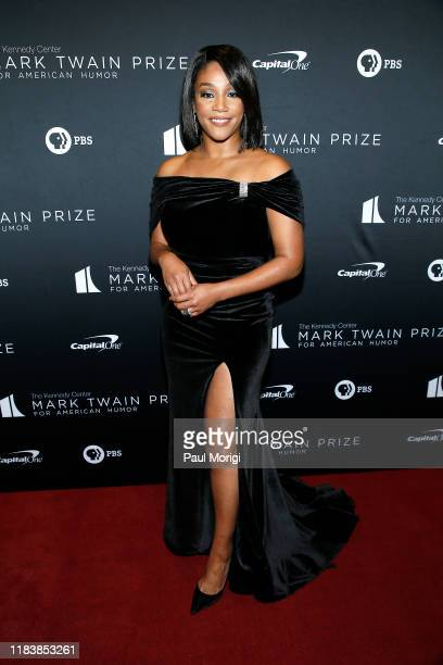 Comedian Tiffany Haddish attends the 22nd Annual Mark Twain Prize for American Humor at The Kennedy Center on October 27 2019 in Washington DC