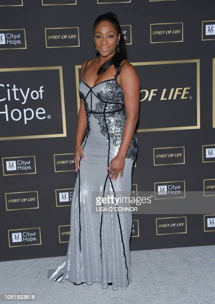 US comedian Tiffany Haddish attends the City of Hope Gala 2018 in Santa Monica California on October 11 2018