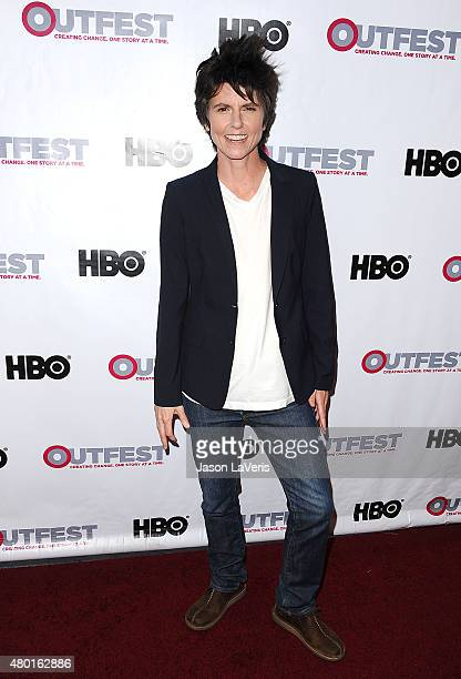 Comedian Tig Notaro attends the opening night gala of Tig at the 2015 Outfest Los Angeles LGBT film festival at Orpheum Theatre on July 9 2015 in Los...