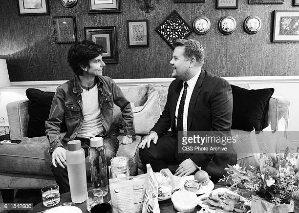 Comedian Tig Notaro backstage with James Corden during The Late Late Show with James Corden Thursday Sept 29th On The CBS Television Network