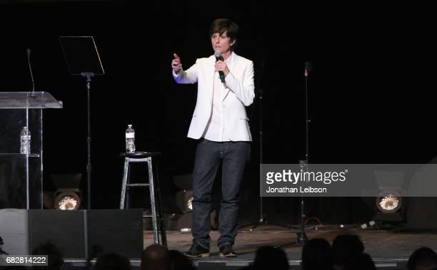 Comedian Tig Notaro performs onstage at the Los Angeles LGBT Center's An Evening With Women at Hollywood Palladium on May 13 2017 in Los Angeles...