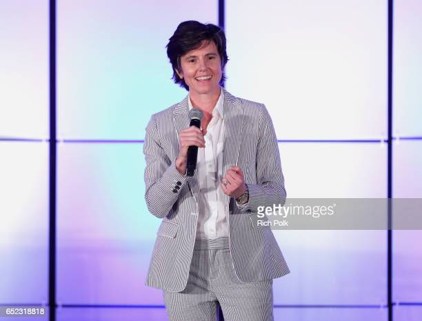 Comedian Tig Notaro speaks onstage at the Family Equality Council's Impact Awards at the Beverly Wilshire Hotel on March 11 2017 in Beverly Hills...