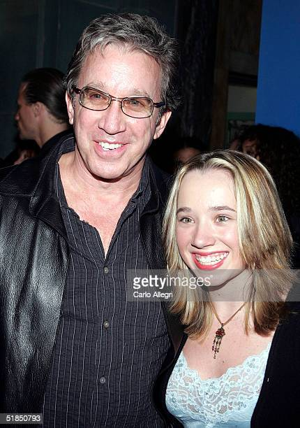 Comedian Tim Allen and his daughter attend the inaugural Grammy Jam Fest at the Wiltern Theatre on December 11 2004 in Los Angeles California The...