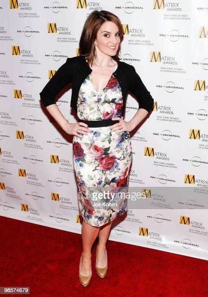 Comedian Tina Fey attends the 2010 Matrix Awards presented by New York Women in Communications at The Waldorf=Astoria on April 19 2010 in New York...