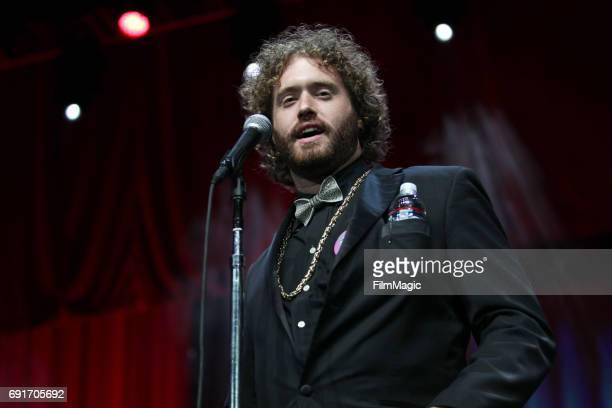 Comedian TJ Miller performs onstage at The Bill Graham Stage at Civic Center Plaza and The Bill Graham Civic Auditorium on June 2 2017 in San...