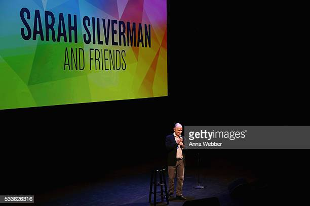 Comedian Todd Barry performs onstage during Vulture Festival presents Sarah Silverman Friends at BAM on May 22 2016 in New York City