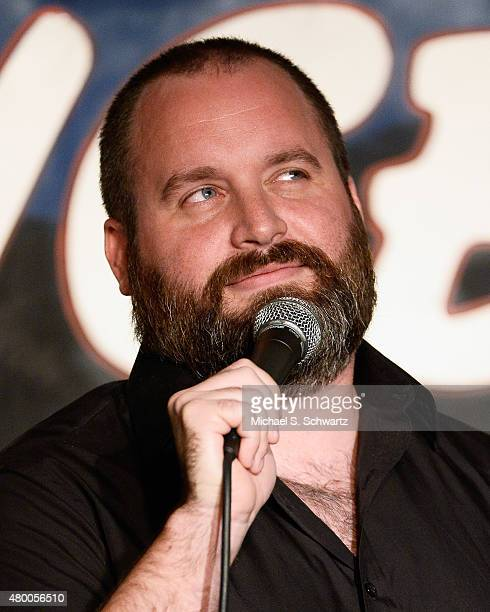 Comedian Tom Segura performs during his appearance at The Ice House Comedy Club on July 8 2015 in Pasadena California