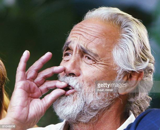 Comedian Tommy Chong appears on The Tonight Show with Jay Leno at the NBC Studios on July 9 2004 in Burbank California