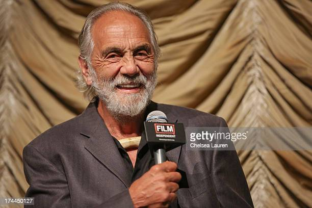 Comedian Tommy Chong speaks at at Film Independent's Up In Smoke special screening at Bing Theatre At LACMA on July 25 2013 in Los Angeles California