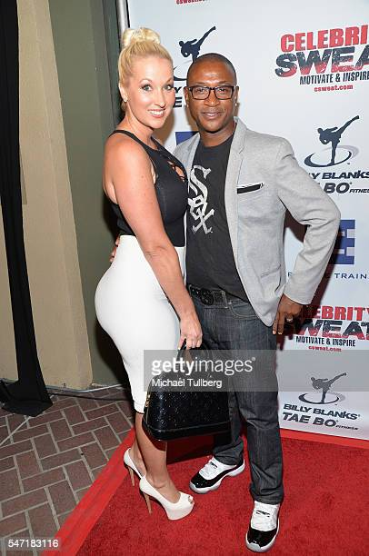 Comedian Tommy Davidson and Amanda Moore attend Celebrity Sweat's After ESPYs VIP Bash at The Palm Restaurant on July 13 2016 in Los Angeles...