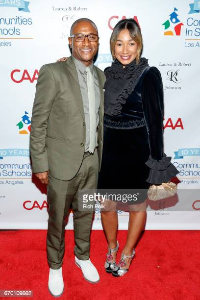 Comedian Tommy Davidson and Lauren Wooden Johnson attend the Communities In School LA Gala on April 18 2017 in Los Angeles California