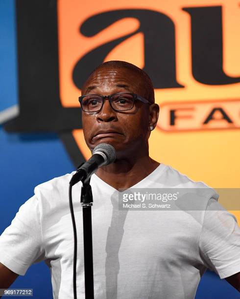 Comedian Tommy Davidson performs at the SarcomaOma Foundation Comedy Benefit at The Laugh Factory on June 6 2018 in West Hollywood California