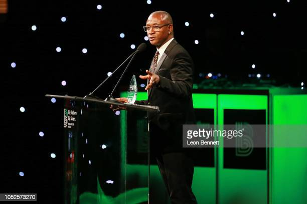 Comedian Tommy Davidson speaks to the crowd during Big Brothers Big Sisters Of Greater Los Angeles Big Bash Gala Inside at The Beverly Hilton Hotel...