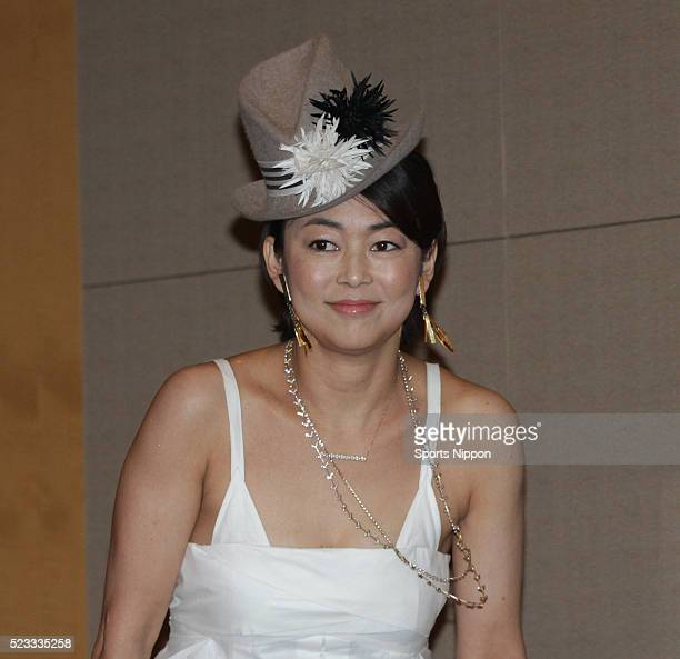 Comedian Tomoko Nakajima of Othello attends the 'Undressed Minako' press conference on August 8 2013 in Tokyo Japan