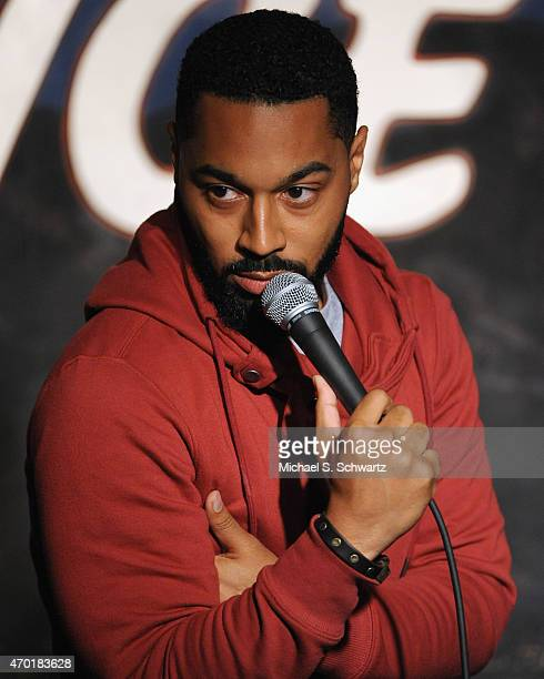 Comedian Tone Bell performs during his appearance at The Ice House Comedy Club on April 17 2015 in Pasadena California