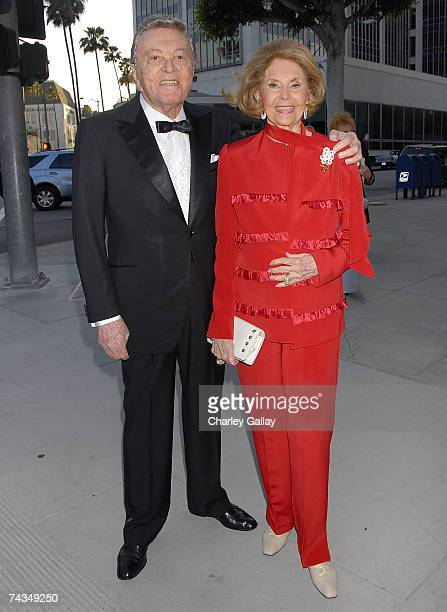 Comedian Tony Martin and actress Cyd Charisse attend the City of Beverly Hills gala honoring fashion icon Fred Hayman on May 28 2007 in Los Angeles...