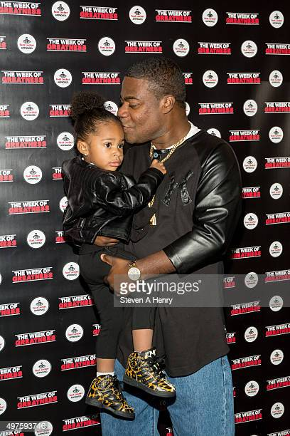 Comedian Tracy Morgan and daughter Maven Morgan attend the 4th Annual Week of Greatness Kickoff at The Wooly on November 17 2015 in New York City