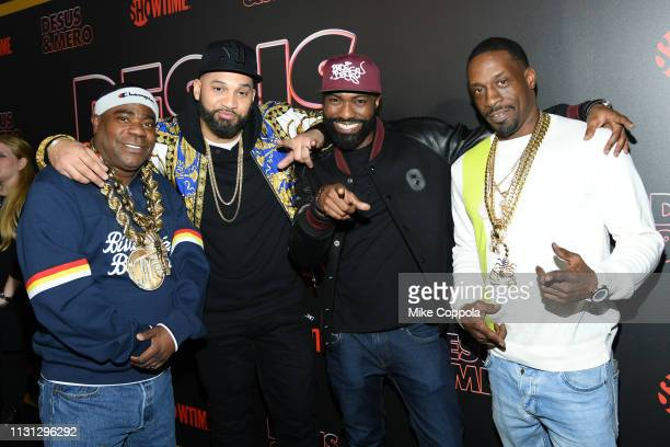 """Comedian Tracy Morgan, The Kid Mero, Desus Nice, and Jimmy Morgan Jr. Attend Showtime's """"Desus & Mero"""" Series Premiere at The Clocktower at the New..."""