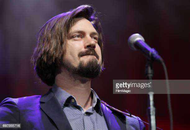 Comedian Trevor Moore performs onstage at The Bill Graham Stage during Colossal Clusterfest at Civic Center Plaza and The Bill Graham Civic...