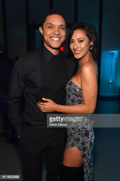 Comedian Trevor Noah and Jordyn Taylor attend the Universal Music Group's 2018 After Party to celebrate the Grammy Awards presented by American...