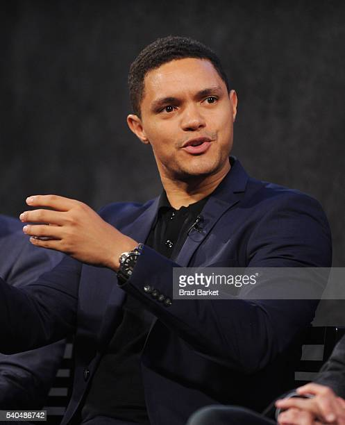 Comedian Trevor Noah participates in a panel discussion during FYC The Daily Show with Trevor Noah at Paley Center For Media on June 15 2016 in New...