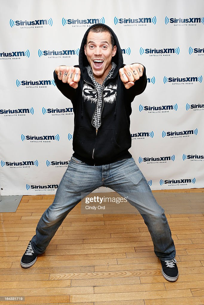 Comedian/ TV personality Steve-O visits the SiriusXM Studios on March 22, 2013 in New York City.