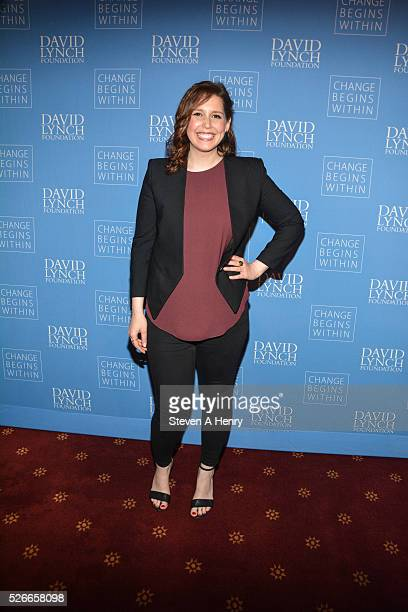 Comedian Vanessa Bayer attends 'An Amazing Night Of Comedy A David Lynch Foundation Benefit For Veterans With PTSD' at New York City Center on April...