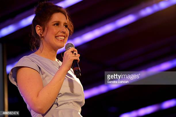 Comedian Vanessa Bayer performs onstage at 'An Above Average Talent Show Benefiting The Ally Coalition' during the 2015 SXSW Music Film Interactive...