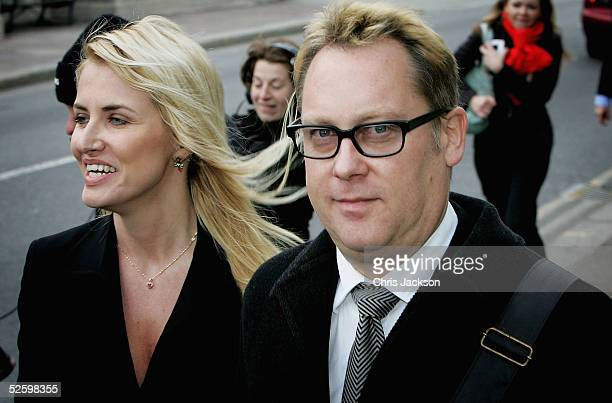 Comedian Vic Reeves real name Jim Moir and his wife Nancy Sorrell leave court after he pleaded guilty to drink driving charges at Maidstone...