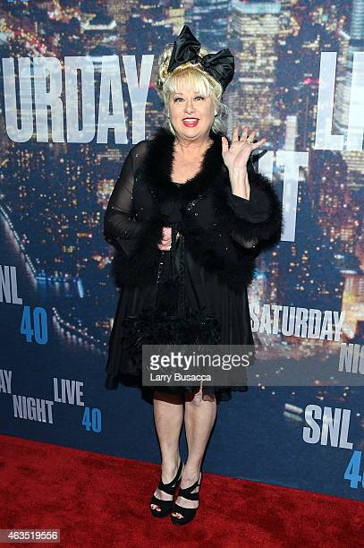 Comedian Victoria Jackson attends SNL 40th Anniversary Celebration at Rockefeller Plaza on February 15 2015 in New York City