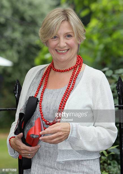 Comedian Victoria Wood attends Sir David Frost's Summer Party at Carlyle Square on July 09 2008 in London England
