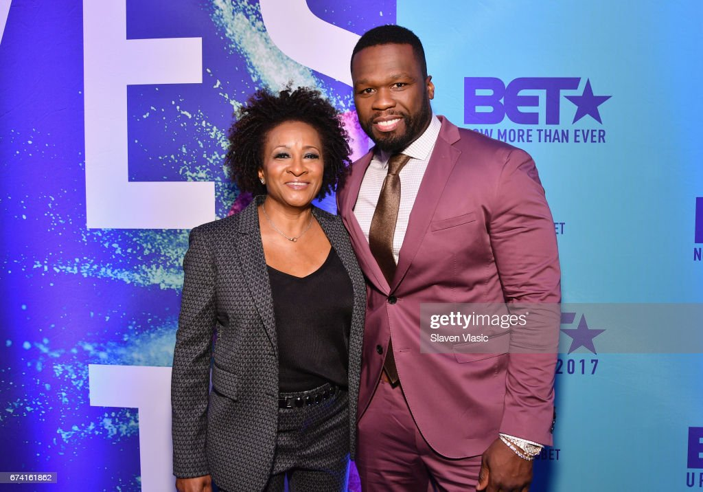 Comedian Wanda Sykes and rapper 50 Cent attend the 2017 BET Upfront NY at PlayStation Theater on April 27, 2017 in New York City.